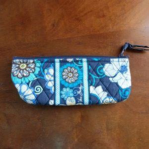 Vera Bradley Mod Floral Blue Pencil Pouch